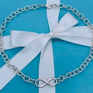 Tiffany & Co. Large Infinity Chain Link Necklace